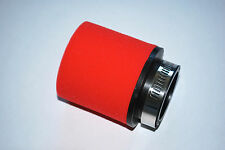 RED RACING FOAM AIR FILTER TO FIT HONDA CB400N 1978 -1985 48MM RAM POD
