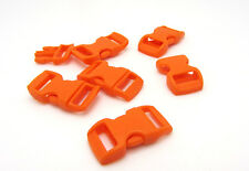 "12pcs 3/8"" Curved Side Release Plastic Buckle for Paracord Bracelet Orange JK-9"