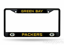 Green Bay Packers Metal BLACK License Plate Frame Auto Truck Car NFL
