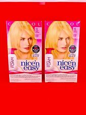 LOT 2 Clairol Nice 'n Easy Permanent Hair Color Blend Foam 10 Extra Light Blonde