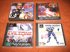 ps1 TEKKEN 2 & 3 + EVIL ZONE + ZERO DIVIDE bundle with manuals