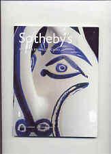 SOTHEBY'S Ceramics Pablo Picasso Jean Cocteau MADOURA Auction Catalog 2005
