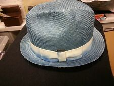KANGOL MENS BUBBLE PLAYER STRAW  HAT-NWOT + NWT *SEE BELOW