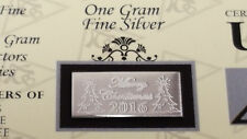 x50 Merry Christmas 2016 ACB 1 Gram Bar 999 Fine SILVER w/Certificate Great Gift