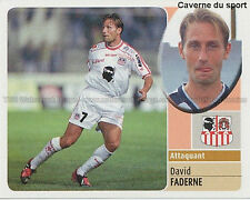 DAVID FADERNE # AC.AJACCIO VIGNETTE STICKER  PANINI FOOT 2003 ~