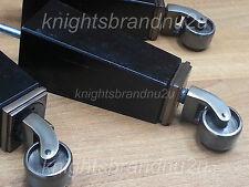 4x FURNITURE LEGS/FEET & ANTIQUE CASTOR 185mm HEIGHT, SETTEE CHAIR, SOFA M8(8mm)