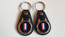 CHEVROLET CAMARO KEY CHAIN SET 2 PACK RED WHITE AND BLUE LOGO