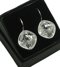 Silver Plated Earrings made with Swarovski Crystals  SHEENA *CRYSTAL* 14mm