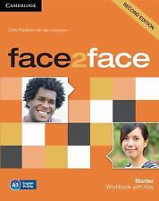 face2face Starter Workbook with Key, Redston, Chris, Very Good condition, Book