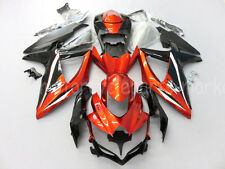 For Suzuki GSX-R600/750 K8 GSXR 750 GSXR600 2008-2010 2009 Orange Fairing Body