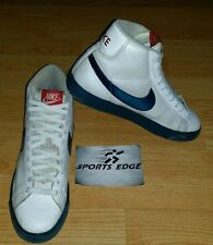 Men's Nike Blazer High Top White Leather Shoes 9 (316664-141) (M-200)