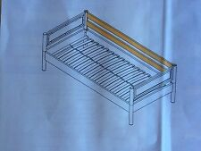 FLEXA INSPIRATION WHITEWASH BED SIDE LONG RAIL - FLEXA #7910114
