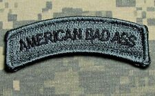 AMERICAN BAD ASS TAB US ARMY USA ACU DARK VELCRO® BRAND FASTENER MORALE PATCH