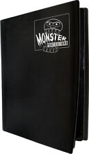 (1) BCW-MB-4P-MBK Black Trading Game Card Binder 4 Pocket Monster Protectors MTG