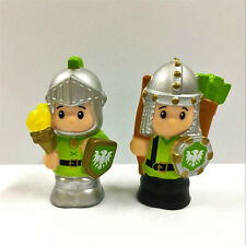 """2PCS Fisher Price Little People Castle Knights Torch Archer 2.0"""" Figure Gift Toy"""
