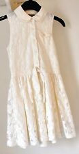 A CREAM NEXT GIRLS SUMMER LACE LINED DRESS AGE 8 YEARS