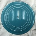 Le Creuset Vintage Aqua Blue 'D' Round Lid Only for Dutch Oven No Handle/screw