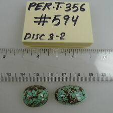 Persian Turquoise 100% Natural 2 Oval Cabochon 41 TCW