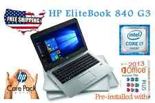 HP Elitebook 840 G3 -CORE I7-6600U- 2.6 GHz -RAM 16GB - 180GB SSD WINDOWS 10 Pro