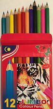 12 JUMBO COLOR PENCIL WITH SHARPENER PACK OF 12 PENCILS