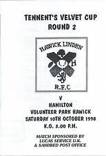 10 de octubre de 1998 Hawick Linden V Hamilton, Taza escocés