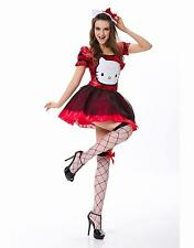 New RED Sexy Woman's Hello Kitty Costume Cosplay Halloween Fancy Dress S/M