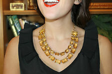 Impossible to Find Kate Spade Double Drop Jewel Blocks Necklace Amber