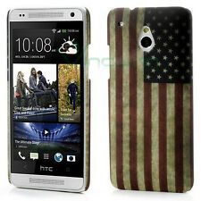 Custodia rigida bandiera americana USA per HTC One mini M4 cover stati uniti
