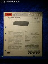 Sony Service Manual CDP M35 CD Player (#0150)