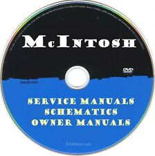 McIntosh Service Manuals & Schematics- PDFs on DVD - Ultimate Collection