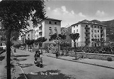 Cartolina - Postcard -  Massa - Via Matteotti -  Vespa Piaggio - anni '50