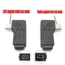 2pcs Mini USB Male to Female Extension Adapter 90° Right / Left Angled Connector