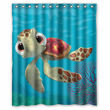 Custom Turtle Finding Nemo Arts DesignedWaterproof Shower Curtain 60'' x 72''