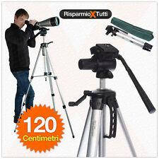 CAVALLETTO TREPPIEDE SUPPORTO FOTOCAMERE VIDEOCAMERE REFLEX 120 CM CON BORSA