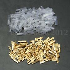 100Pcs 2.8mm Hembra Crimp Terminal Conector Spade Pala 22~16AWG 0.5mm +Funda