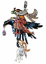 KIRKS FOLLY SEASON OF THE WITCH RAVEN / CROW RIDER MAGNETIC ENHANCER SILVERTONE