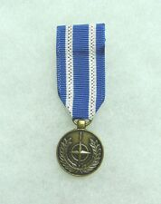 NATO medal, miniature, non-article 5, US DoD approved for wear