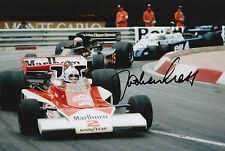 Jochen Mass Hand Signed 12x8 Photo Marlboro Team McLaren F1 5.