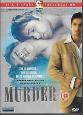 MURDER - EMRAAN HASHMI - ASHMIT PATEL - NEW BOLLYWOOD DVD - FREE UK POST