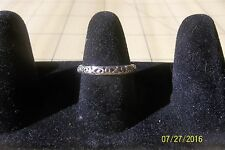 Sterling Silver stamped tooled Ring 7.25 slim