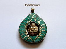Tibetan Buddhist Buddha Retro Om Pendant Necklace Handmade Nepal FAIRTRADE