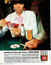 PUBLICITE ADVERTISING 125  1970  la bière VEGA 2000 jeu photo