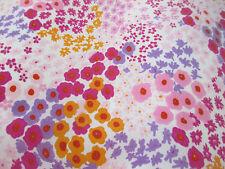 5 mètres rose & violet ditsy floral crêpe de chine imprimé robe de tissu.