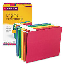 Smead Hanging File Folders 1/5 Tab 11 Point Stock Letter Assorted Colors 25/Box