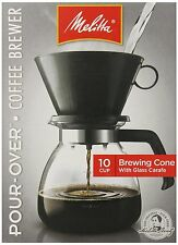 Melitta Cone Filter Coffeemaker 10 Cup, 1-Count from Melitta [640616]  CKM NEW