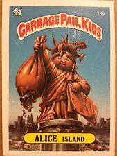 Garbage Pail Kids GPK Original Series 3 #113a Alice Island (Brother) DAMAGED