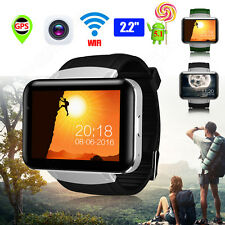 "Unlocked DM98 2.2"" 4GB WIFI GPS 3G MT6572A Bluetooth Android Smart Watch Phone"