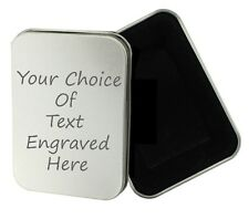 Personalised Engraved Gift Tobacco Tin, Birthday, Gift, Present, Smoking Lighter