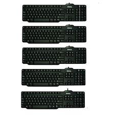 Job Lot of 5 x Dell Space Saver USB Keyboard UK QWERTY Black