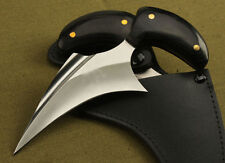 Claw Karambit 5Cr13 Blade wood Handle camping Hunting knife tools C213